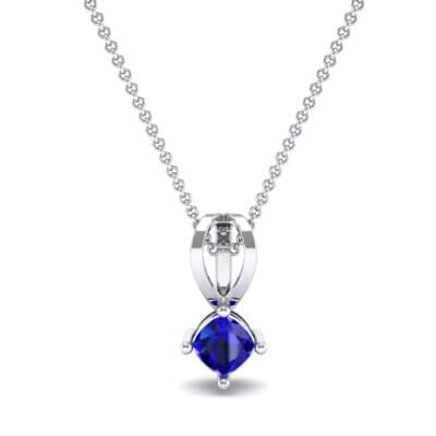 Grace Cushion-Cut Blue Sapphire Pendant (0.47 CTW) Top Dynamic View