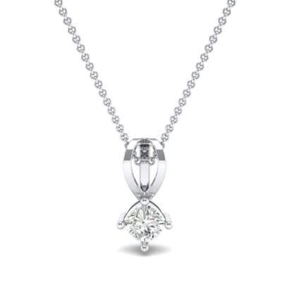 Grace Cushion-Cut Diamond Pendant (0.47 CTW) Top Dynamic View