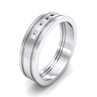 Five-Stone Channel Crystal Ring (0.08 CTW) Perspective View