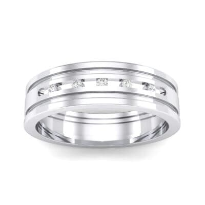 Five-Stone Channel Crystal Ring (0.08 CTW) Top Dynamic View
