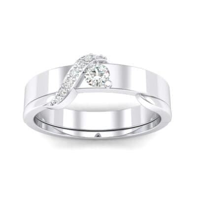 Pave Tilde Crystal Engagement Ring (0.16 CTW) Top Dynamic View