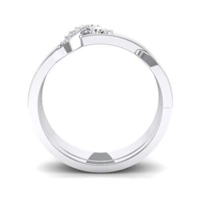 Pave Tilde Crystal Engagement Ring (0.16 CTW) Side View
