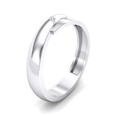 Pave Caress Crystal Ring (0.02 CTW) Perspective View
