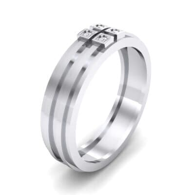 Quattro Crystal Ring (0.04 CTW) Perspective View