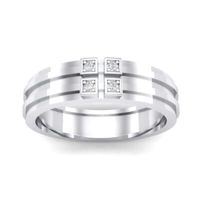 Quattro Crystal Ring (0.04 CTW) Top Dynamic View