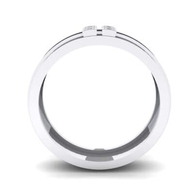 Quattro Crystal Ring (0.04 CTW) Side View