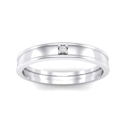 Raised Edge Solitaire Crystal Ring (0.02 CTW) Top Dynamic View