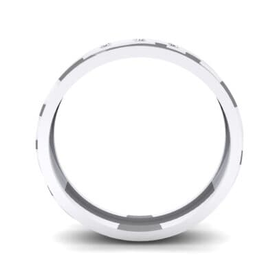 Three-Stone River Crystal Ring (0.08 CTW) Side View