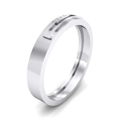 Podium Crystal Ring (0.02 CTW) Perspective View