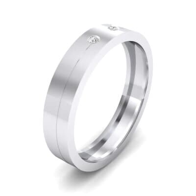 Square Finesse Crystal Ring (0.05 CTW) Perspective View