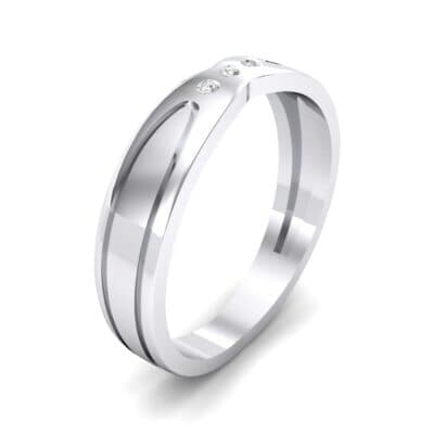 Curved Finesse Crystal Ring (0.05 CTW) Perspective View