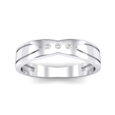 Curved Finesse Crystal Ring (0.05 CTW) Top Dynamic View