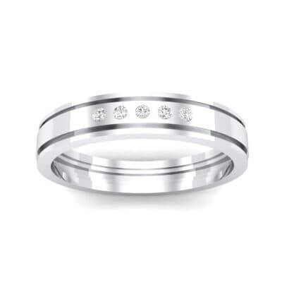 Five-Stone Burnish Crystal Ring (0.08 CTW) Top Dynamic View