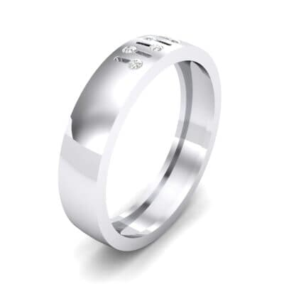 Five-Stone Fader Crystal Ring (0.08 CTW) Perspective View