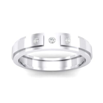 Three-Stone Avenue Crystal Ring (0.06 CTW) Top Dynamic View