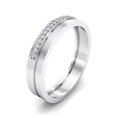 Pave Finesse Crystal Ring (0.12 CTW) Perspective View