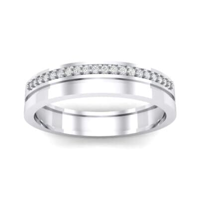 Pave Finesse Crystal Ring (0.12 CTW) Top Dynamic View