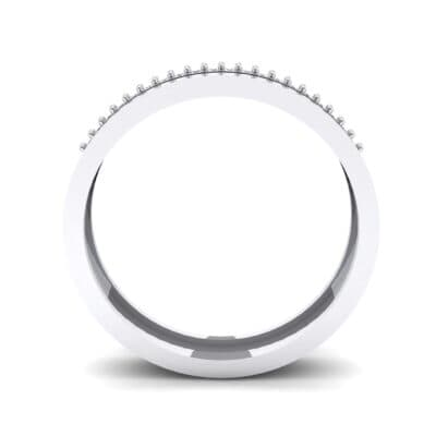 Pave Finesse Crystal Ring (0.12 CTW) Side View