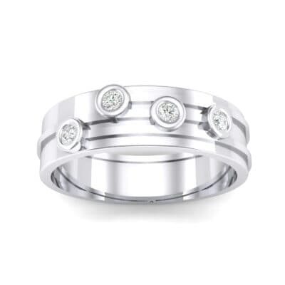 Bezel Node Crystal Ring (0.1 CTW) Top Dynamic View