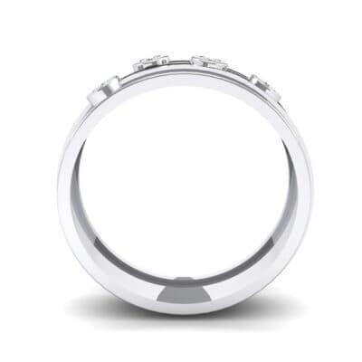 Bezel Node Crystal Ring (0.1 CTW) Side View