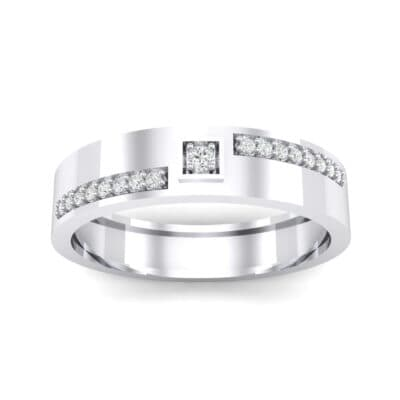Pave Level Crystal Ring (0.1 CTW) Top Dynamic View