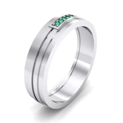 Five-Stone Pipeline Emerald Ring (0.04 CTW) Perspective View