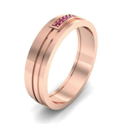 Five-Stone Pipeline Ruby Ring (0.04 CTW) Perspective View