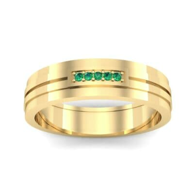 Five-Stone Pipeline Emerald Ring (0.04 CTW) Top Dynamic View