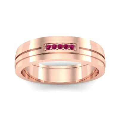 Five-Stone Pipeline Ruby Ring (0.04 CTW) Top Dynamic View