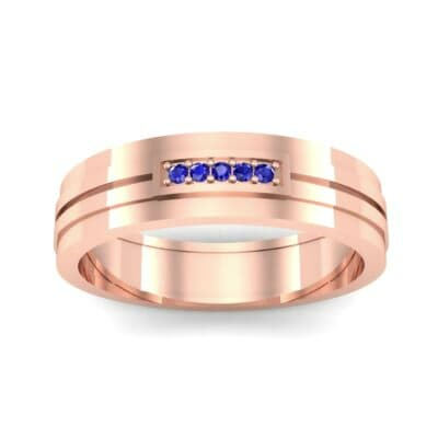 Five-Stone Pipeline Blue Sapphire Ring (0.04 CTW) Top Dynamic View