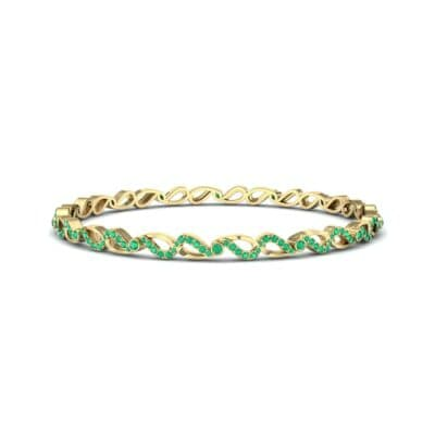 Pave Flux Emerald Bangle (1.68 CTW) Perspective View