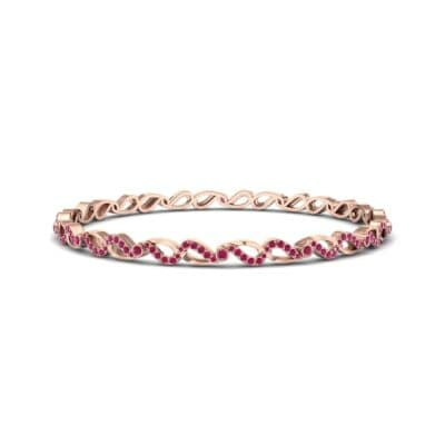 Pave Flux Ruby Bangle (1.68 CTW) Perspective View