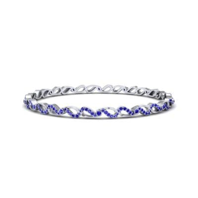 Pave Flux Blue Sapphire Bangle (1.68 CTW) Perspective View