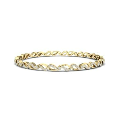 Pave Flux Diamond Bangle (1.68 CTW) Perspective View