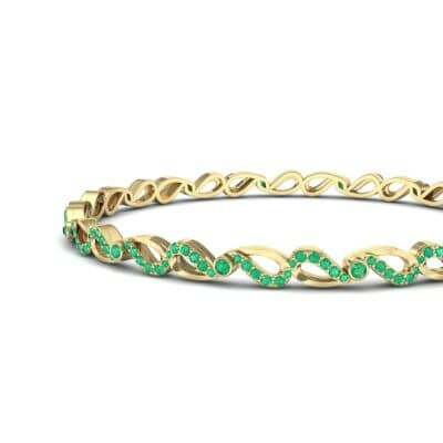 Pave Flux Emerald Bangle (1.68 CTW) Top Dynamic View