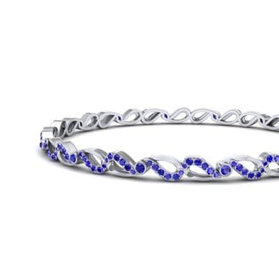 Pave Flux Blue Sapphire Bangle (1.68 CTW) Top Dynamic View