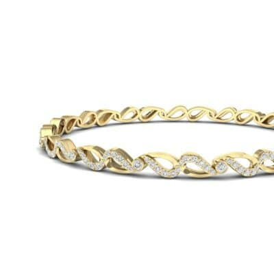 Pave Flux Diamond Bangle (1.68 CTW) Top Dynamic View