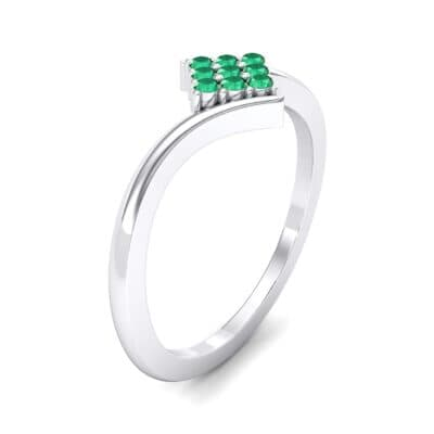 Bypass Rhombus Emerald Ring (0.11 CTW) Perspective View