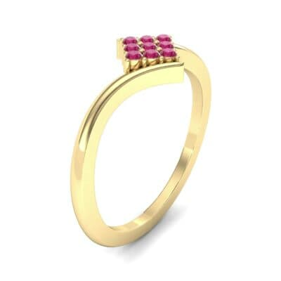 Bypass Rhombus Ruby Ring (0.11 CTW) Perspective View