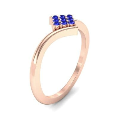 Bypass Rhombus Blue Sapphire Ring (0.11 CTW) Perspective View