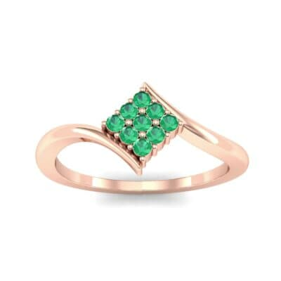 Bypass Rhombus Emerald Ring (0.11 CTW) Top Dynamic View