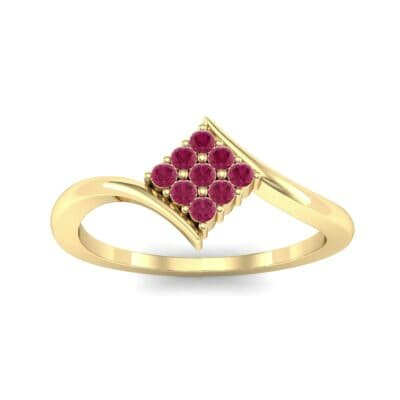 Bypass Rhombus Ruby Ring (0.11 CTW) Top Dynamic View