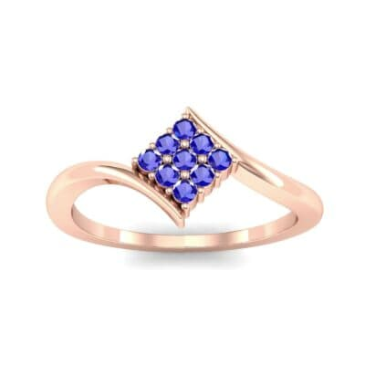 Bypass Rhombus Blue Sapphire Ring (0.11 CTW) Top Dynamic View