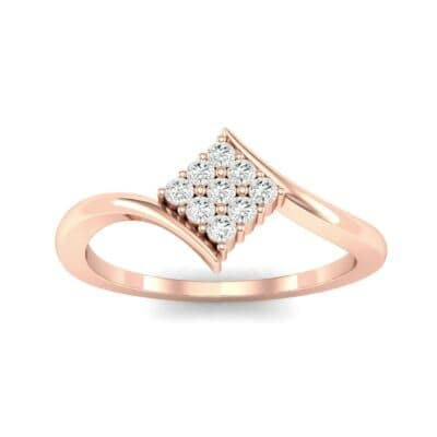 Bypass Rhombus Diamond Ring (0.11 CTW) Top Dynamic View