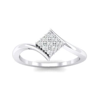 Bypass Rhombus Diamond Ring (0.11 CTW) Top Dynamic View
