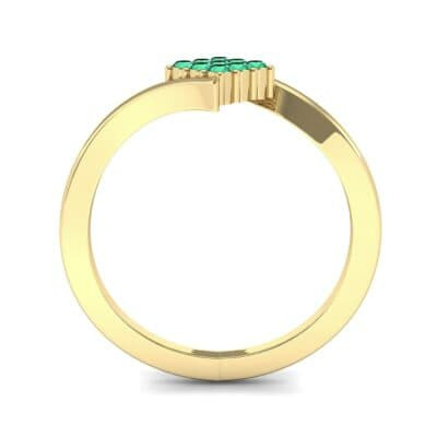 Bypass Rhombus Emerald Ring (0.11 CTW) Side View