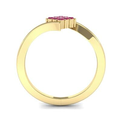 Bypass Rhombus Ruby Ring (0.11 CTW) Side View