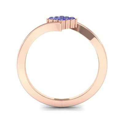 Bypass Rhombus Blue Sapphire Ring (0.11 CTW) Side View