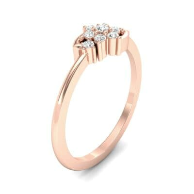 Tapered Cluster Diamond Engagement Ring (0.12 CTW) Perspective View