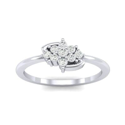 Tapered Cluster Diamond Engagement Ring (0.12 CTW) Top Dynamic View